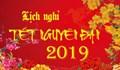 Lịch nghỉ Tết Nguyên Đán 2019 và những lưu ý cần biết