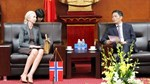 Bộ trưởng Trần Tuấn Anh tiếp Đại sứ đặc mệnh toàn quyền Vương quốc Na-uy tại Việt Nam