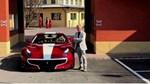 """Chiếc siêu xe Ferrari F12tdf """"hàng thửa"""" của ông chủ hãng Pagani được sơn màu đỏ rượu"""