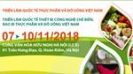 7-10/11: Triển lãm Quốc tế Thực phẩm và Đồ uống 2018 tại Hà Nội
