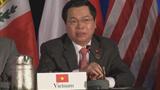 Bộ trưởng Vũ Huy Hoàng trả lời họp báo kết thúc đàm phán TPP
