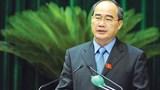 Chủ tịch MTTQ Nguyễn Thiện Nhân phân tích kinh tế bằng tiếng Anh