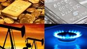 Hàng hóa TG sáng 25/4: Giá hầu hết tăng, ngoại trừ dầu, cao su và đường