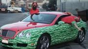 Choáng với xe sang Bentley Continental GT phiên bản dưa hấu