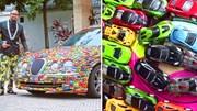 Doanh nhân gây sốt trên mạng vì phủ kín chiếc xe Jaguar của mình bằng ô tô mô hình