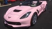 """Choáng với """"quỷ dữ"""" Chevrolet Corvette C7 Z06 khoác áo hồng của quý bà"""