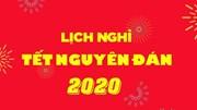 Công văn của Văn phòng Chính phủ về lịch nghỉ Tết Nguyên đán năm 2020