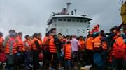 280 du khách mắc kẹt ở đảo Cô Tô đã về đất liền