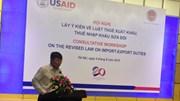 Dự thảo: Hàng hóa nhập khẩu để sản xuất hàng hóa xuất khẩu được miễn thuế