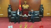 Thứ trưởng Trần Quốc Khánh tiếp xã giao Bộ trưởng đặc trách thuộc Nội các Nhật Bản