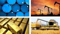 Hàng hóa TG sáng 6/6/2019: Giá dầu và cà phê giảm, vàng tăng