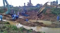 Sáng 26/9, vỡ tiếp đường ống sông Đà, ngừng cấp nước hơn 70.000 hộ dân