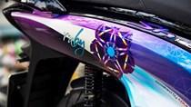 Honda SH sơn tem họa tiết kim cương ở An Giang