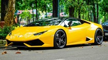 Siêu xe Lamborghini Huracan của Cường Đô La độ gầm thấp
