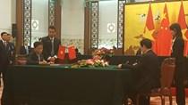 Lễ ký kết Bản ghi nhớ hợp tác về TMĐT giữa BCT Việt Nam và BTM Trung Quốc