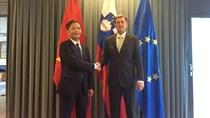Bộ trưởng Trần Tuấn Anh chào xã giao Thủ tướng Slovenia