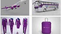 """Bộ nhận diện thương hiệu """"tím lịm tìm sim"""", nghi của Hãng hàng không Vinpearl Air"""