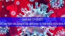 Bộ Y tế ra QĐ bổ sung bệnh viêm đường hô hấp cấp vào bệnh truyền nhiễm nhóm A