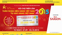 Tặng 1.000 voucher và giải thưởng hàng trăm triệu tại Hội chợ Tự hào hàng Việt Nam