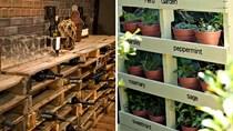 Những tấm gỗ nhỏ tạo thành mảnh ghép lớn cho nội thất