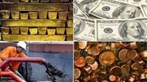 Hàng hóa TG sáng 12/1/2017: giá dầu và vàng tăng, đồng USD suy yếu