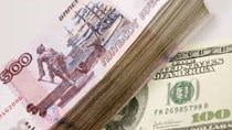 Đồng ruble Nga sụt giá mạnh nhất kể từ năm 2016