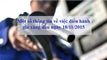 Một số thông tin về việc điều hành giá xăng dầu ngày 18/11/2015