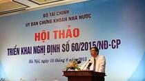 Tuần này Bộ Tài chính sẽ ban thành Thông tư hướng dẫn Nghị định 60