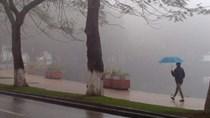 Gió mùa đông bắc gây mưa dông