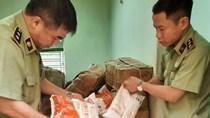 Tạm giữ gần 7 tấn nguyên liệu thực phẩm để sản xuất Bim Bim không có nguồn gốc