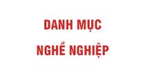 Quyết định 34/2020/QĐ-TTg ban hành Danh mục nghề nghiệp Việt Nam