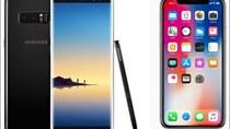 """Galaxy Note 8 tỉ thí iPhone X, đại chiến giữa các """"siêu phẩm"""" 1.000USD"""