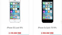 iPhone 5S - siêu phẩm một thời hiện có giá 2-3 triệu đồng