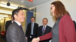 Bộ trưởng Trần Tuấn Anh làm việc tại Vương quốc Bỉ