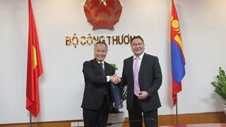 Thứ trưởng Trần Quốc Khánh tiếp và làm việc với đoàn Bộ Ngoại giao Mông Cổ