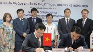 Việt Nam - Hàn Quốc ký Biên bản ghi nhớ về tiêu chuẩn quản lý hệ thống điện
