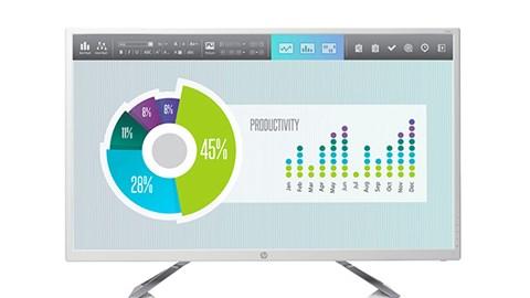 HP giới thiệu màn hình lớn giá rẻ, thích hợp cho văn phòng mới