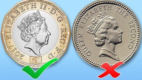 """Anh lưu hành đồng xu 1 bảng mới """"an toàn nhất thế giới"""""""