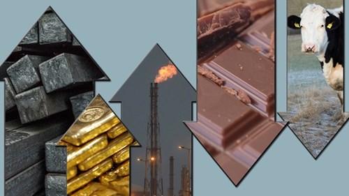 TT hàng hóa quốc tế phiên 10/5: Giá dầu và kim loại tăng khá mạnh, nông sản biến động trái chiều