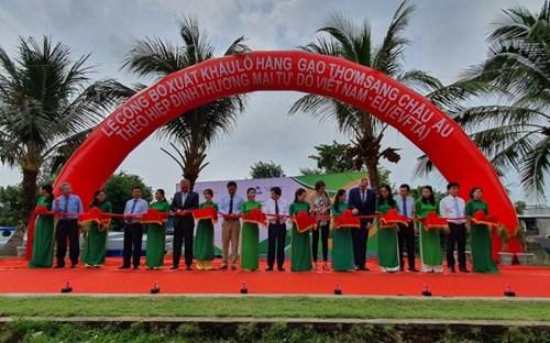 Lô gạo thơm đầu tiên của Lộc Trời Group xuất sang EU theo EVFTA