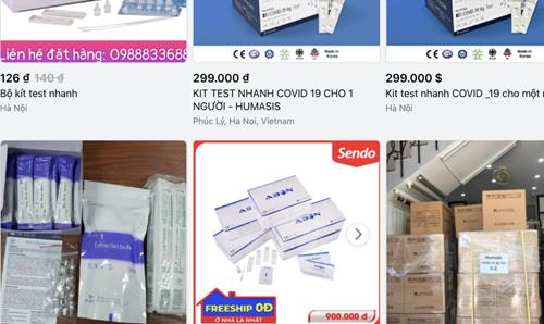 Khuyến cáo người tiêu dùng khi mua kit test nhanh COVID-19