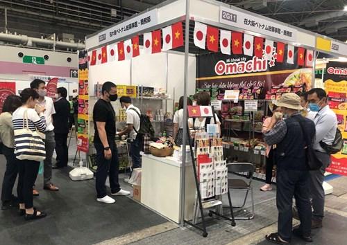 Gian hàng quảng bá sản phẩm Việt Nam tham gia Hội chợ Food Style Kansai ngày 15-17/6/2021