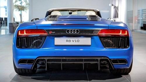 Audi R8 V10 mui tran mau doc hinh anh 7