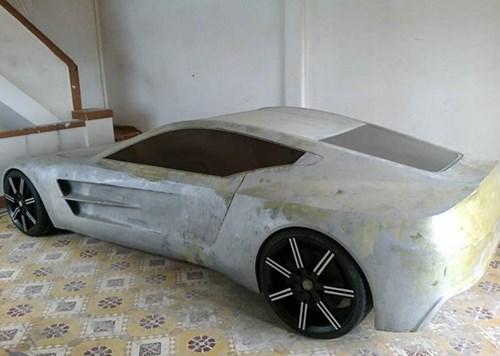 Chang trai Viet tu che mo hinh sieu xe Aston Martin One-77 hinh anh 3