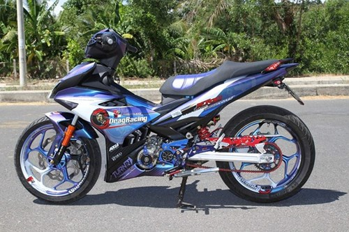 Exciter 150 son chuyen mau va len do choi cua biker Phu Yen hinh anh 5