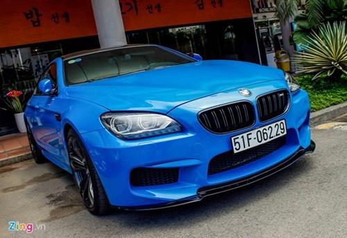 BMW M6 duy nhat Sai Gon doi mau xanh 'A Rap' hinh anh 2