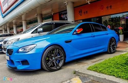 BMW M6 duy nhat Sai Gon doi mau xanh 'A Rap' hinh anh 3