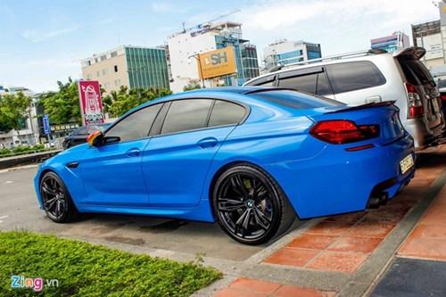 BMW M6 duy nhat Sai Gon doi mau xanh 'A Rap' hinh anh 4