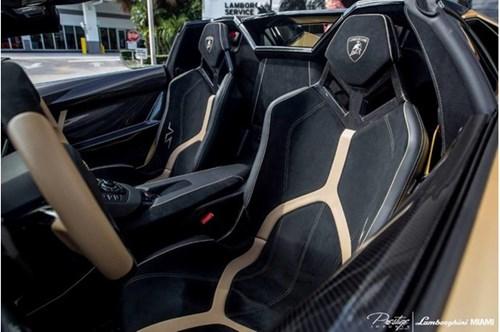 Vẻ đẹp siêu xe hàng hiếm Lamborghini Aventador SV Roadster màu vàng đồng - Ảnh 13.
