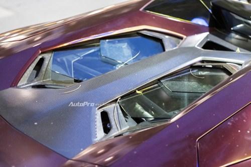 Bắt gặp Lamborghini Aventador Roadster màu cánh gián đi chơi cuối tuần - Ảnh 5.
